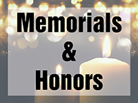 Memorials and Honors