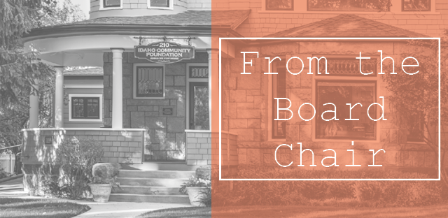 Background: ICF House Porch - Caption: From the Board Chair